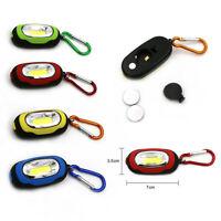 6 Flashlights Key Ring Portable COB LED Carabiner Keychain Camping Light Hiking