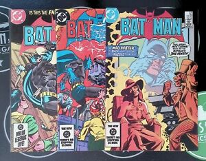 Batman #378-380 (1984)VF+ DC Comics Jason Todd Nocturna Mad Hatter Dr. Fang Dead