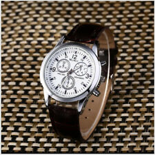 Men's Military Analog Watch Date Watch NEW Faux Leather Fashion Luxury AA