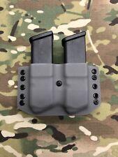 Battleship Gray Kydex Dual Magazine Carrier for Glock .45 ACP 10mm