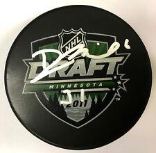 DAVID MUSIL signed 2011 NHL DRAFT PUCK OILERS 1000805