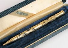 ANTIQUE MORRISON'S 14K GOLD FILLED PENCIL PEN WITH ORIGINAL BOX FINE OVERLAY