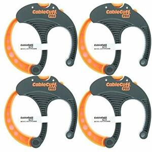 PRO (4 Pack 4x Large 3 Inch Diameter) Adjustable, Reusable, Cable Tie For Cords