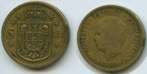 G16045 - Romania 5 Lei 1930 (a) Paris KM#48 Mihai I.1927-1930 Rumänien