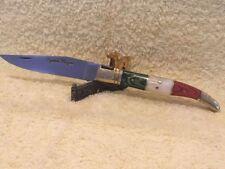 Couteau de poche Laguiole manche au couleur de L'Italie .