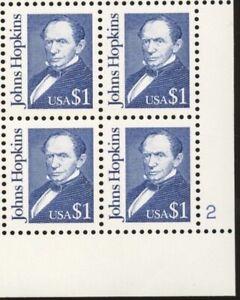 US #2194 MNH Plate Block CV$15.00 1989 Johns Hopkins [LR #2]