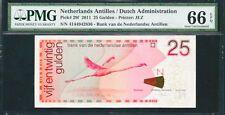 Netherlands Antilles 25 Gulden 2011 Pick# 29f PMG # 66EPQ ( #720)