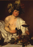 Baco Adolescente Caravaggio - 70x100CM Falso D'Autor - Póster Artístico
