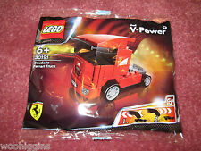 LEGO SHELL V POWER SCUDERIA FERRARI TRUCK 30191 - PULL BACK MOTION - NEW/SEALED