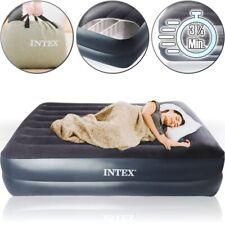 INTEX® Luftbett mit Pumpe (selbstaufblasend) 203x152x42 Queen Gäste Reise Bett