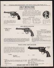 1947 COLT Pocket Positive, New Service & Single Acton Army REVOLVER AD