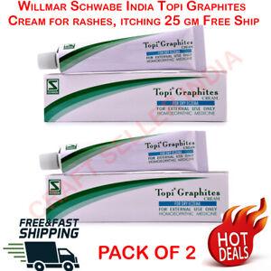 Dr. Willmar Schwabe TOPI GRAPHITES CREAM for dry eczema, rashes 2 x 25gm UK USA