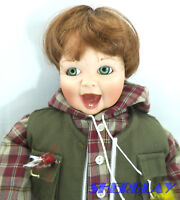"What a Catch retired 14""  fisherman Ashton Drake porcelain doll"