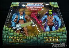 MOTU Classics Laser Power He-Man & Laser Light Skeletor MATTY SHIPS Worldwide