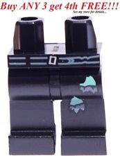 ☀️NEW Lego Legs Pants MINIFIGURE PANTS BOY Hips Legs Belt Torn Sections Black