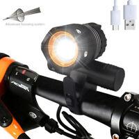 Zoomable Bicicleta Resaltar recargable T6 LED lámpara de luz de 3 modos Faro  AC