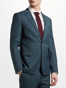John Lewis Kin Crepe Slim Fit Notch Lapel Suit Jacket Teal New BNWT