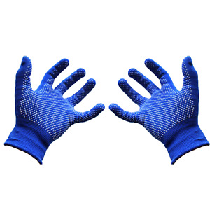 Magic Gloves With Gripper Winter Warm Thermal Blue Mens & Ladies Gripper Gloves