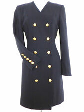 Escada Dress/Coat Double Breasted Size S Navy Blue Long Sleeve