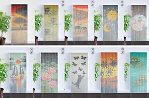 Bambusvorhang ✔ Raumteiler ✔ Türvorhang ✔ Insektenschutz ✔  90x200 cm