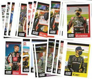 2021 Panini Chronicles NASCAR Score Base Pick Your Card Fill Your Set 1-20