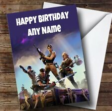 Fortnite Birthday Card - Personalised Children's Kids Birthday Card (fortnight)