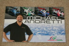"2009 Michael Andretti ""Andretti Green Racing"" Honda Dallara Indy Car postcard"