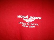 Michael Jackson the immortal world tour cirque du soleil local crew shirt XL red