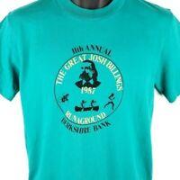 Great Josh Billings RunAground Triathlon T Shirt Vintage 80s Made In USA Large