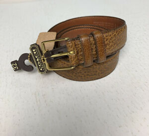 Vintage Coach Leather Belt Brown Cracked Leather Men's Size 32 NEW