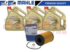 FOR BMW M5 F10 4.4 S63 ENGINE MAHLE ENGINE OIL FILTER SERVICE KIT 12L CASTROL