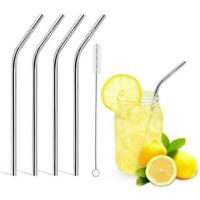 Stainless Steel Straws Ultra Long Reusable Drinking Metal Straws< High quality