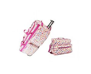 """Set of 2 Hand Carry On Cabin Luggage Flight Gym & 30"""" Wheeled Holdall Bag"""