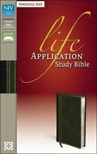 NIV, Life Application Study Bible, Personal Size, Leathersoft, Brown/Green, Zond