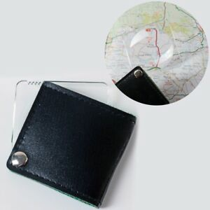 SMALL MAGNIFYING GLASS Fold Away Pocket Magnifier Map Reading Eye Tool Lens