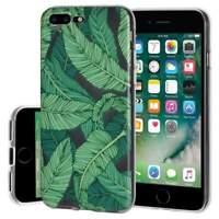 Soft Gel Premium Graphic Skin Case Cover for iPhone 7 Plus - Tropical Leaf