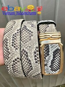Men's Belt - Genuine Python Skin Leather - Handmade Belt