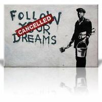 Canvas Print Wall Art - Follow your dreams, Cancelled - Painter - 24 x 36