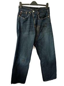 Michiko Koshino Jeans Twisted Engineered Japanese Dark Indigo 32 W 32 L