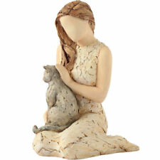 More Than Words 9591 Affection Woman With Cat Figurine