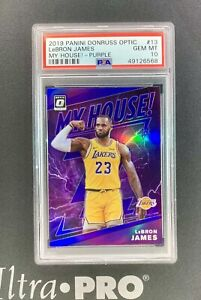 2019-20 Panini Donruss Optic Lebron James My House! Purple Prizm PSA 10