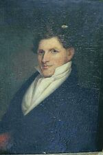 Thomas Sully 1800's portrait Samuel Philips Lee original oil painting antique