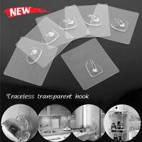 Anti-skid Hooks Reusable Transparent Wall Hangers 1/6/12pcs