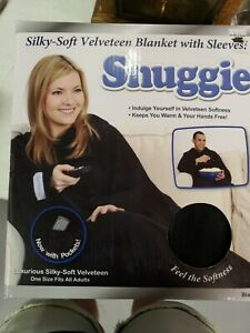 Snuggie Fleece Wearable Blanket with Sleeves Pocket Microfiber Warm TV Blanket