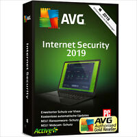 AVG Internet Security 2019 | 1PC 1 Jahr | Vollversion/Upgrade Promotion UE DE