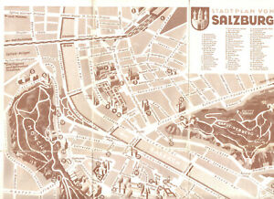 Stadtplan, Salzburg, um 1960
