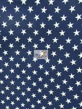 ASSORTED AMERICAN STARS 100% COTTON CANVAS FABRIC - Navy Blue - BY THE YARD
