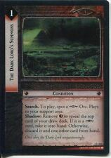 Lord Of The Rings CCG FotR Foil Card 1.U242 The Dark Lords Summons