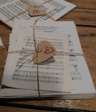 30 sheets VINTAGE music paper. 12 x 17 cms Origami, scrap booking decoupage