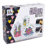 Decorate & Paint Your Own Glitter Glass Bottles Art & Craft Activity Set